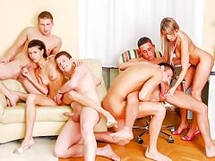Bisex Creampie Orgy