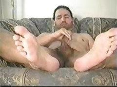 Sofa Jerk-Off With My Feet Shown