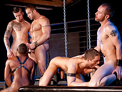 Fucked Down - Five Man Orgy Part 01