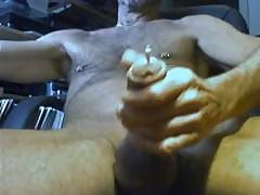 My Pierced Dick Cumshot