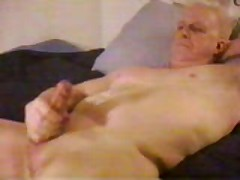 Hot Dad Stroking His Hard Cock Cums For Camera