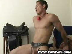 Leather Strapped Latinos Extreme Fuck