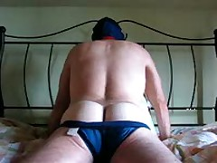 Wanking In A Faded Blue Speedo
