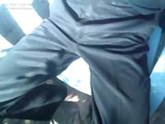 Uniform Black Satin Pants 1