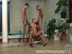Triplets - Pool Scene