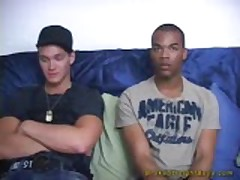 Interracial Str8 Boy Three Way