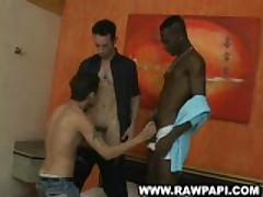 Threesome Interracial Latino Bareback