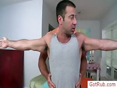 Unshaved Chested Bro Gets Checked Before Rubbing By Gotrub