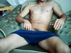 Wanking On The Sofa