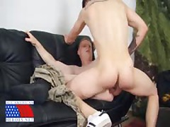 Army Stud Fucks Ginger Marine