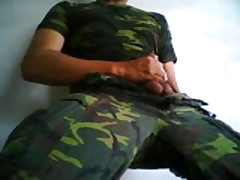 Military Soldier Jerking Off And Cumming Video!!
