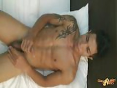 Gay Asian Muscle Man Rock Gets ROCK Hard