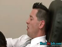 Amazing Queer Guy Gets Schlong Sucked At Office 1 By HardOnJob