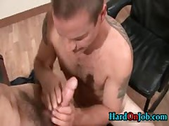 These Guys Are Horny And Hard In The Office 13 By HardOnJob