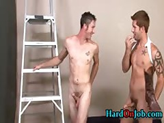 When The Boss Is Away These Guys Start Sucking Gay Cock 4 By HardOnJob