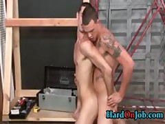 These Guys Are Horny At The Job, Gay Suck And Fuck 4 By HardOnJob