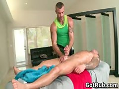 Beefed Attractive With Tattoos Making Out His Rubbing Expert 3 By GotRub