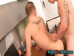 Bobby Gets His Tight Ass Fucked At Work 2 By HardOnJob