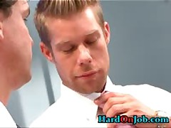 Gay Ass Rimming And Cock Sucking At Work 1 By HardOnJob