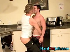 Hot Gay Guy Gets Assholle Rimmed On Desk 3 By HardOnJob