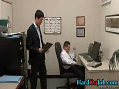 Horny Gay Dude Gets Jizzster Sucked At Work 1 By HardOnJob
