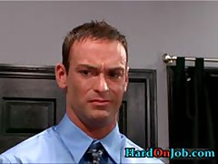Hunky Gay Dude Gets Jizzster Sucked At Work 3 By HardOnJob