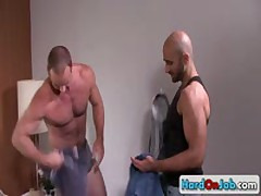 Lucky Guy Gets His Amazing Sack Licked 7 By HardOnJob