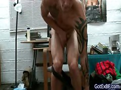 Steamy Muscular And Tattoed Attractive Jerking His Penis 1 By Gotexbf