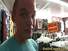 Twinky Crowd Homosexual Making Out On The Flea Market 1 By OutInCrowd