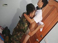 Military Guys Sucks Schoolboy