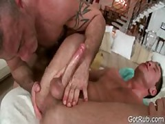 Hunky Bro Getting Arse Rimmed 5 By GotRub