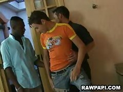 Wild Gays Threesome Ass Barebacking Action