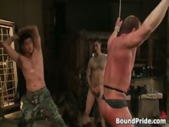 Muscled Guy Strung And Hung Gay BDSM Video 3 By BoundPride