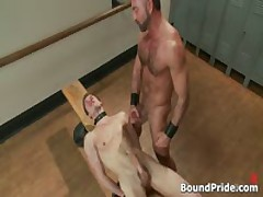 Josh Strung And Hung From Ceiling Gay BDSM Clip 2 By BoundPride