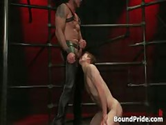 Guy Bound And Hung On Ceiling And Whipped 3 By BoundPride