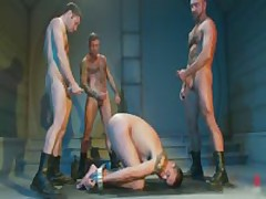 Extreme Gay BDSM Orgy Video 2 By BoundPride