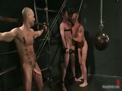 Brenn, Adam And Blake In Horny Extreme Gay Bondage S&M Fetish Threesome 10 By BoundPride