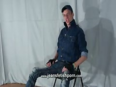 Master In Jeans Belching On Camera