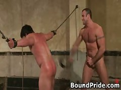 Bound Dude Gets His Ass Slapped By BoundPride