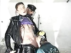 Gay Slaves  To Suck Dick Before Getting Painful Lashes