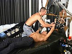 Chained Gay Slave Used By His Handsome Master