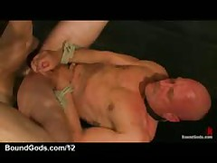 Two Gay Slaves Fucked And Covered In Cum In Dungeon