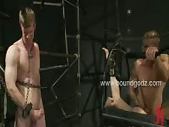 Brenn Fucks Blake And His Boyfriend Adam In Tight Bondage