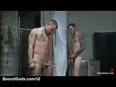 Bounty Hunter Fucks In Mouth Flogs Bound Gay