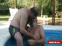 Blow Job By The Pool