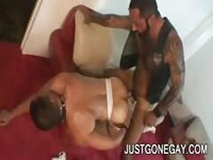 Nasty Tattooed Bear Fucks Friend In Heat