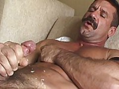 Strong Hairy Hands Stroke A Beefy Dick