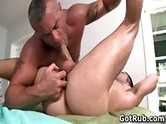 Steamy Buddy Get His Sexy Torso Rubbed And Rod Sucked Off 6 By GotRub