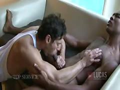 Sean Xavier'S Huge Black Cock Fucks Alexander Garrett'S Muscular Ass