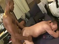 Hot Black Guy Fucks Twink In Dorm!